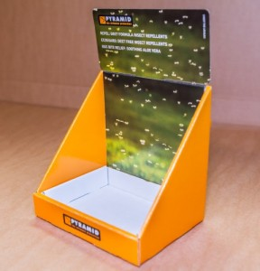 Counter top dispenser point of sale litho print