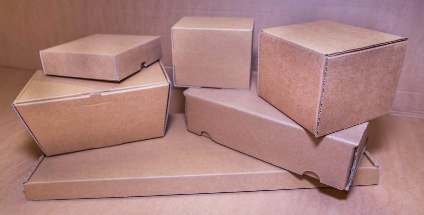 various brown cardboard boxes
